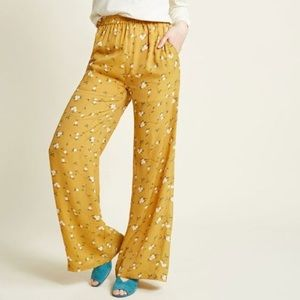 ModCloth Eugene Pant Goldenrod mustard yellow L